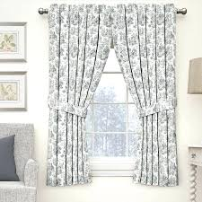toile curtains blue charmed life room darkening rod pocket single curtain panels blue and white toile