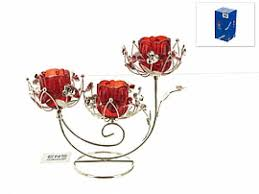 <b>Подсвечник ENS</b>, Красный <b>цветок</b>, 24,5*21,5*10 см купить в ...