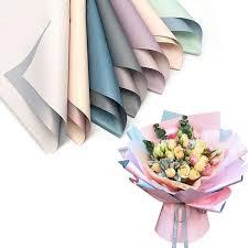 20pcs korean flowers two tone paper packaging gift wrapping neutral color florist flower bouquet supplies 60 60cm