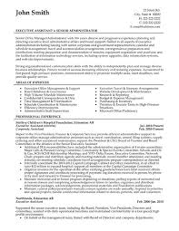 Executive Assistant And Office Administrator Resume Template Offering List  Of Work Experience And Area Of Expertise