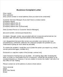 Complain Business Letter Sample Formal Complaint Letter 12 Examples In Word Pdf