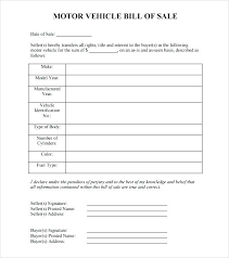 Bill Of Sale Template Alberta As Is Vehicle Notice Used Car