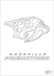 Small Picture Nashville Predators Logo coloring page Free Printable Coloring Pages