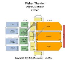 Fisher Theater Detroit Seating Chart Cheap Fisher Theatre Mi Tickets