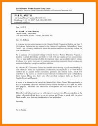 8 Social Work Cover Letter Examples Letter Signature