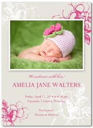 Printable Delicate Pink Baby Birth Announcement Template