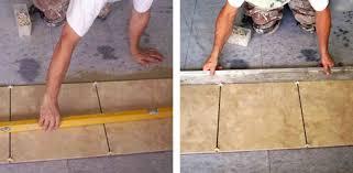 level tile align edges of tile