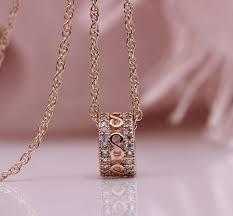 <b>Inlay</b> Luxury <b>Hollow</b> Long Necklaces Rose Gold Natural <b>Zircon</b> Cute ...