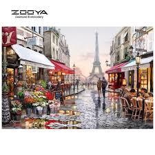 ZOOYA Diamond Embroidery <b>5D DIY</b> Diamond Painting Street ...