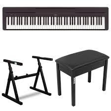 yamaha keyboard stand. amazon.com: yamaha p45b 88 key digital piano with knox z style keyboard stand and bench: musical instruments