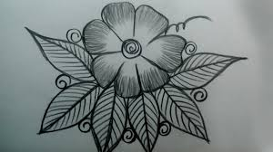 Flower Design Drawing How To Draw Beautiful Flowers With Leaves Design Simple Flower Design Drawing