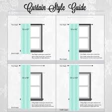 window curtains pic of standard curtain sizes for windows
