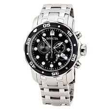 invicta pro diver watches on discount watch store invicta 0069 men s pro diver ss black dial chronograph watch
