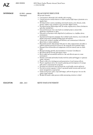 Public Relations Account Executive Resume Sample Velvet Jobs