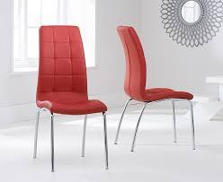 mark harris munich glass rectangular dining set with 2 california red chairs 130cm