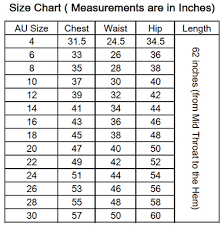 Number Size Chart Size Chart Miracle Agency Bridal Formal Wear Wholesale