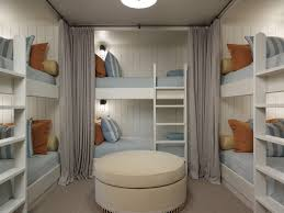 Bunkroom with privacy curtains | The