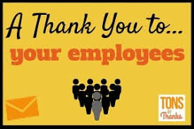Thank You Note To Employee Thank You To Employees Team And Individual Thank You Note Examples