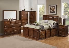 Traditional Alder Tall Version 6 Deep Drawer Platform Bedroom Suite - Queen  Size - Oak For ...