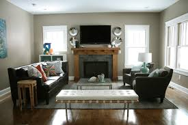 L Shaped Living Room Furniture Layout Feature Wall Ideas Living Room With Fireplace Textured Concrete