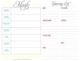 Bi Weekly Meal Planner Template Monthly And Weekly Menu Planners Free Diet Planner Template