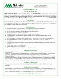 Certified Nursing Assistant Resume Elegant Medical Assistant Resume