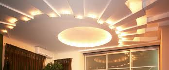 lighting up the ceiling