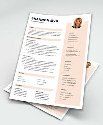 Creative Word Resume Templates Shine Free Creative Resume Template Microsoft Word
