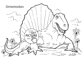 Small Picture Dimetrodon dinosaur coloring pages for kids printable free