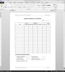 Hr Hiring Status Report Template Adm109 2