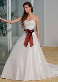 cheap fall wedding dress with sash sang maestro