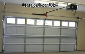 photo 1 standard garage door 16x7 from inside