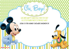 Free Printable Baby Mickey Mouse Invitations Free Printable Disney Baby Shower Invitations Drevio Invitations