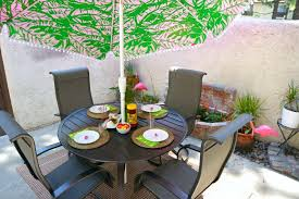 New patio furniture and Lilly Pulitzer umbrella from Tar