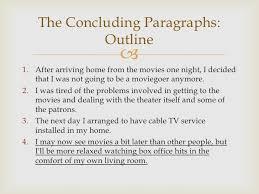 the concluding paragraph 7 the concluding paragraph