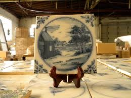 Blue And White Decorative Tiles Blue and White Decorative Delft Reproduction Tiles 30