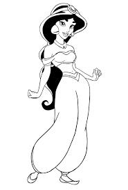 Disegno Della Principessa Jasmine Di Aladdin Da Colorare
