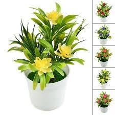 realistic artificial flowers plant pot