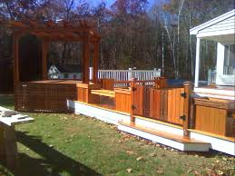 above ground pool with deck and hot tub. Jtdecksmass Middlesex Unty And North Of Boston Ma Newest Above Ground Pool Hot Tub Deck With H