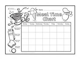 Meal Time Chart Ichild