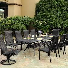 darlee victoria 11 piece resin wicker patio dining set with rh ultimatepatio com 11 piece outdoor dining sets
