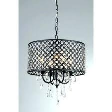 silver mist hanging crystal drum chandelier lamp shades for drum shade crystal chandelier with shades in black indoor