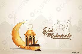 Eid-al-fitr eid-al-adha eid mubarak greetings vector - Stock-Vektorgrafi