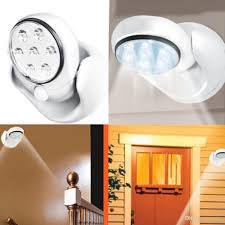 2018 light angel 7 leds motion activated stick up cordless sensor battery outdoor lights with timer