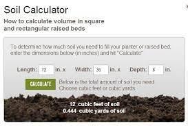 soil calculator soil compost soil