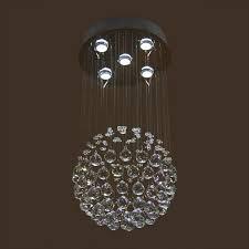 stainless steel built modern led crystal ceiling chandelier dk ld5011 5