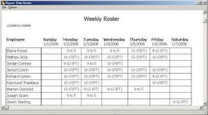 Team Roster Template Word | Scheduling Template