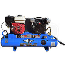 gas air compressor. eagle tt55g 5.5-hp 10-gallon gas wheelbarrow air compressor w/ honda engine