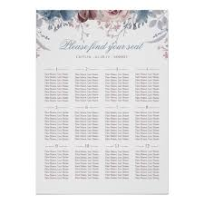 Dusty Blue And Mauve Wedding Seating Chart