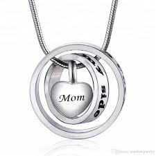 whole love forever heart pendant mom and dad cremation urn necklace jewelry pendant keepsake memorial ashes initial pendant opal pendant necklace locket